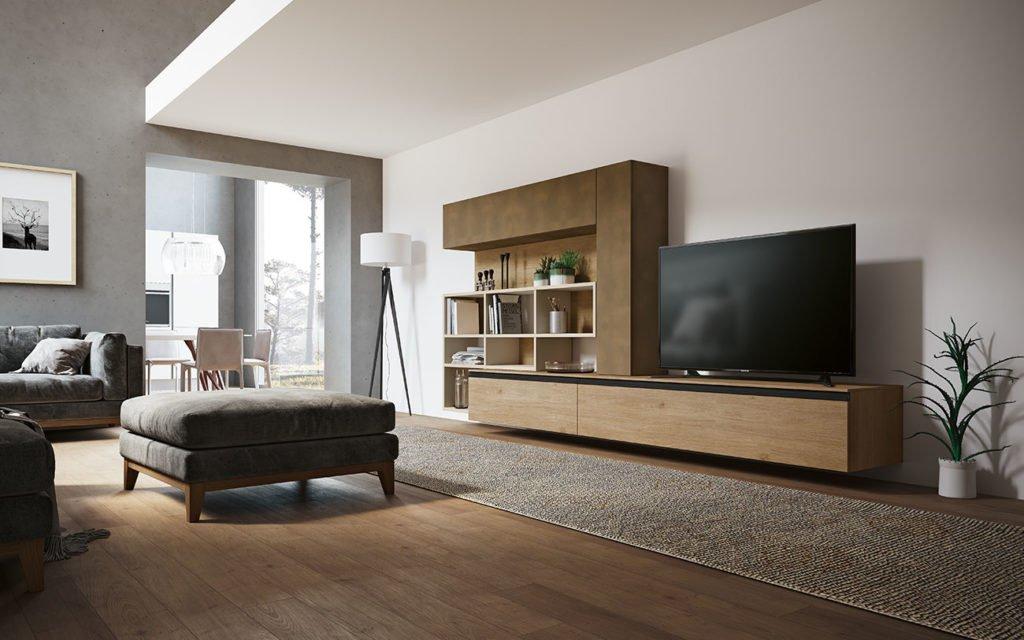 Soggiorni componibili grand arredo mobili for Immagini pareti colorate soggiorno