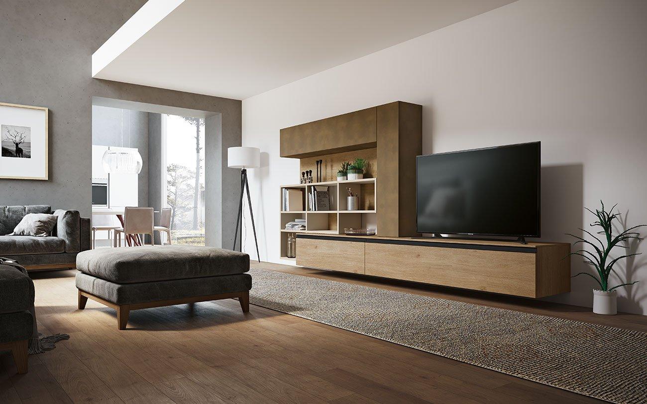 Soggiorni componibili grand arredo mobili for Mobili soggiorno particolari
