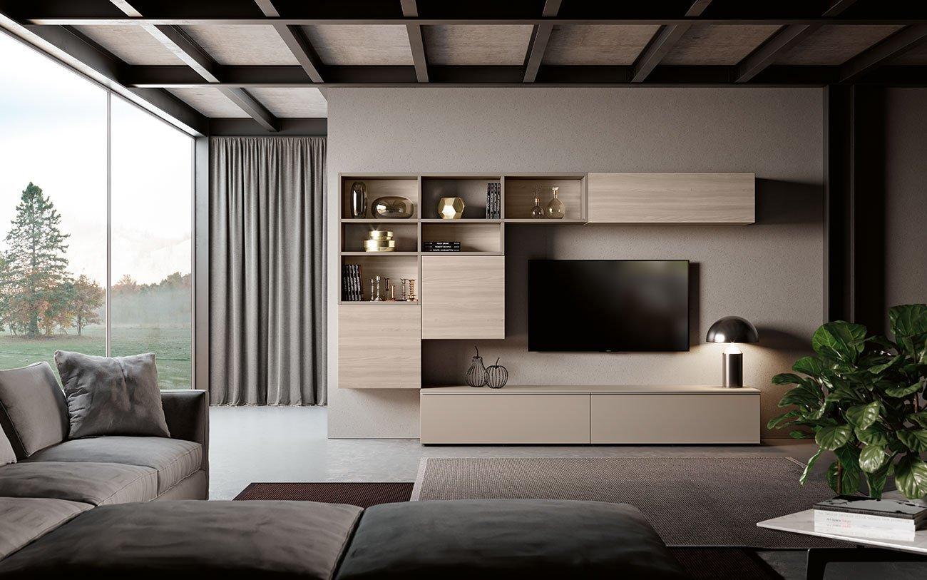 Soggiorni componibili grand arredo mobili for Mobili contenitori soggiorno moderni