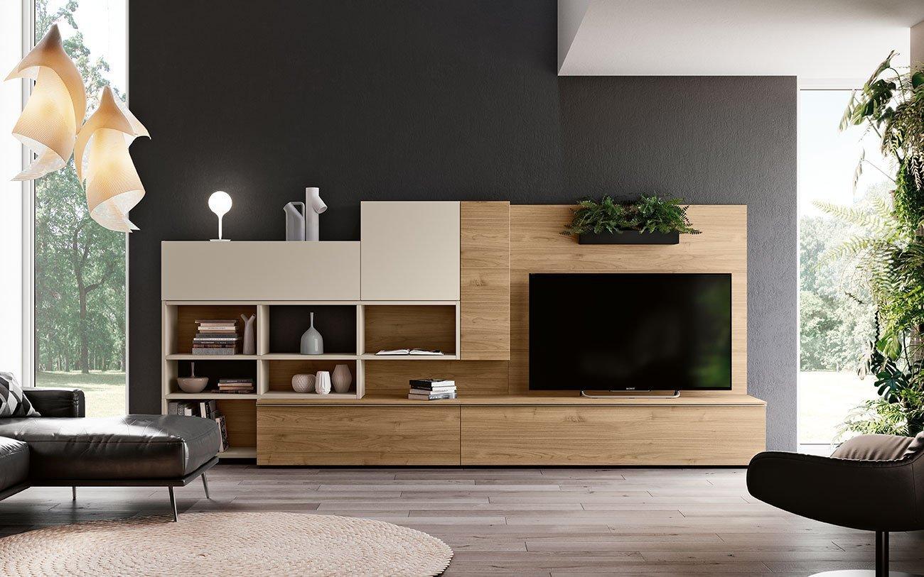 Soggiorni componibili grand arredo mobili for Disposizione mobili soggiorno